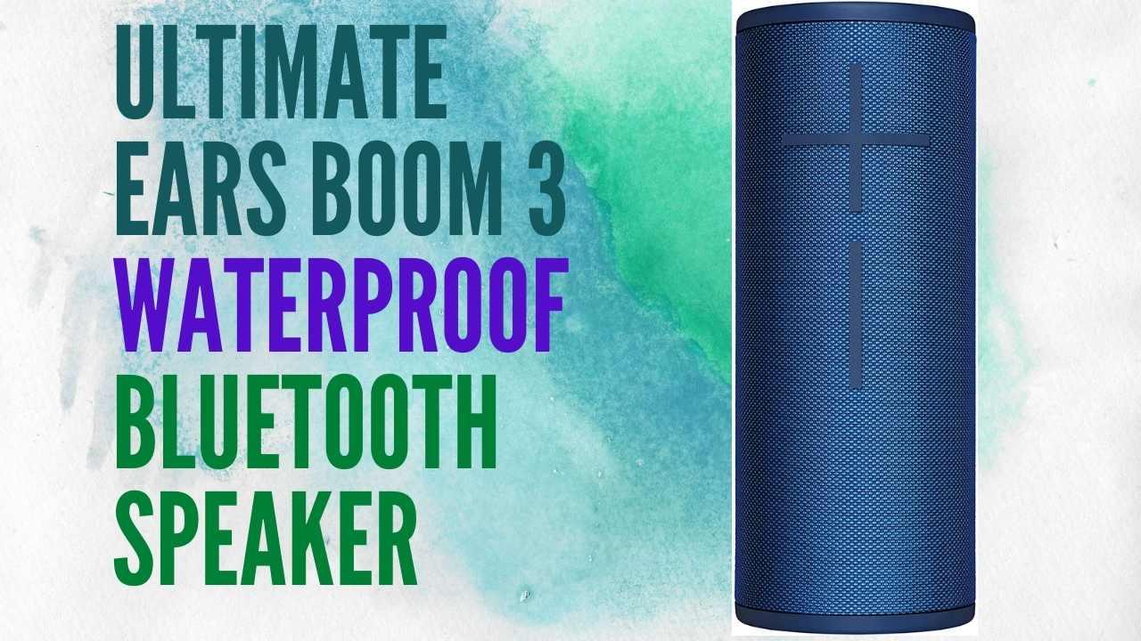 Ultimate Ears BOOM 3 Waterproof Bluetooth Speaker